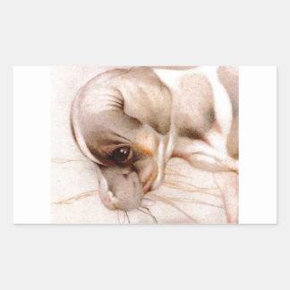 ベビーのフォックステリア犬-すごいかわいい! 長方形シール