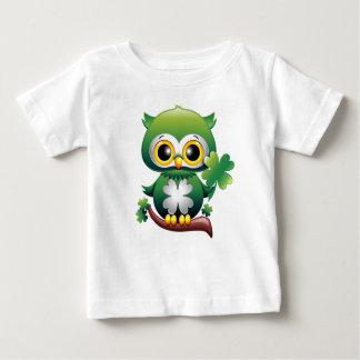 ベビーのフクロウのセントパトリックの水田の漫画のベビーの服装 ベビーTシャツ