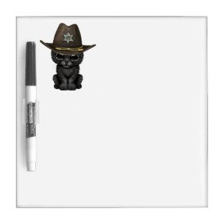 ベビーのブラックパンサーのカブスのかわいい保安官 ホワイトボード