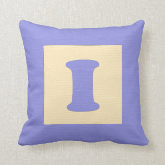 ベビーのブロックの装飾用クッションの手紙I (青) クッション