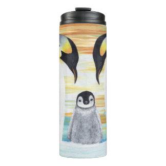 ベビーのペンギンが付いているペンギン家族 タンブラー