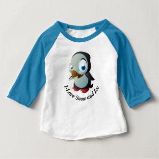 ベビーのペンギンの服装の袖のRaglanのTシャツ ベビーTシャツ