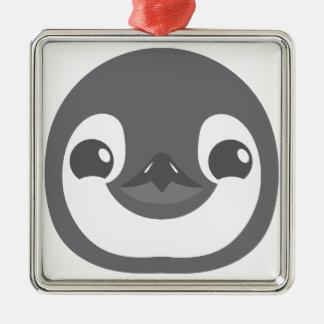 ベビーのペンギンの顔 メタルオーナメント