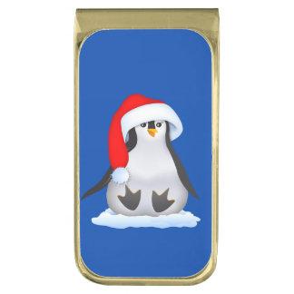 ベビーのペンギン 金色 マネークリップ