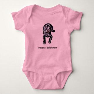 ベビーのボディスーツの黒の実験室の子犬 ベビーボディスーツ
