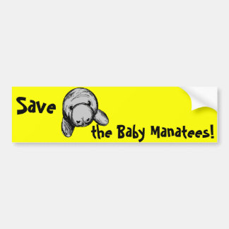ベビーのマナティーを救って下さい! バンパーステッカー