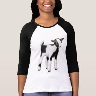 ベビーのヤギの女性Raglanジャージー Tシャツ