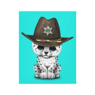 ベビーのユキヒョウのカブスのかわいい保安官 キャンバスプリント