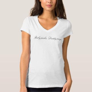 ベビーの一突き、お父さんはTシャツを支払います Tシャツ