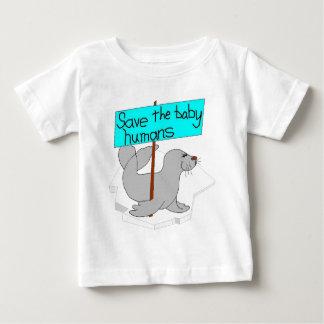 ベビーの人間のベビーのワイシャツを救って下さい ベビーTシャツ