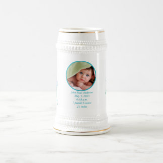 ベビーの写真の重要な誕生Statsのベビーステイン ビールジョッキ
