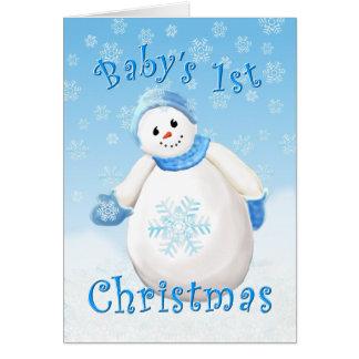 ベビーの初めてのクリスマスの挨拶状 カード
