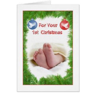 ベビーの初めてのクリスマスカード カード