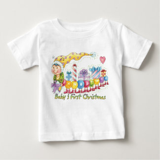 ベビーの初めてのクリスマス-かわいく小さいつまらないものの虫Tr ベビーTシャツ