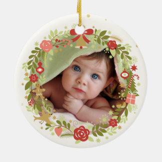 ベビーの初めてのクリスマス セラミックオーナメント