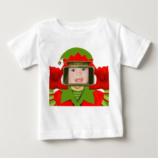 ベビーの初めてのクリスマス ベビーTシャツ