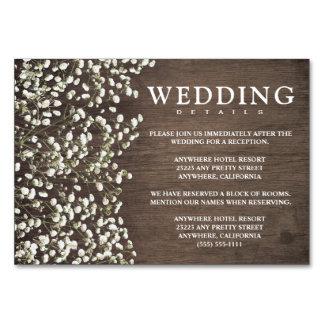 ベビーの呼吸結婚披露宴 + ホテルカード カード