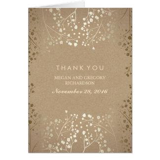 ベビーの呼吸金ゴールドの結婚は感謝していしています カード