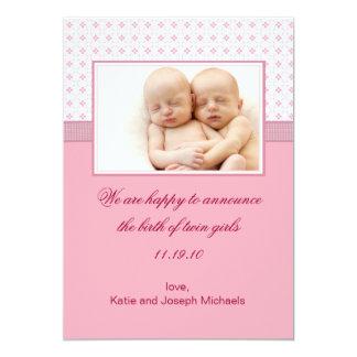 ベビーの呼吸3写真の誕生の発表 カード