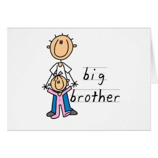 ベビーの姉妹のTシャツおよびギフトを持つお兄さん カード