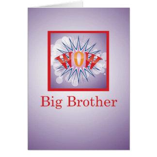 ベビーの姉妹、お祝いWOWのお兄さん! カード