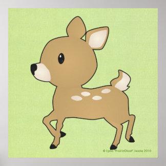 ベビーの子鹿のプリント ポスター