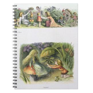 ベビーの小妖精や小人の着服、および拒絶される! 、illustrati ノートブック