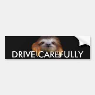 ベビーの怠惰ドライブ注意深くバンパーステッカー バンパーステッカー