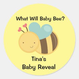 ベビーの性は蜂のテーマを明らかにします ラウンドシール
