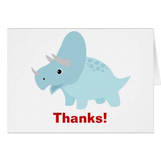 ベビーの恐竜のトリケラトプスのサンキューカード カード