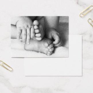 ベビーの手および足 名刺