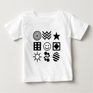 ベビーの明るい記号 ベビーTシャツ