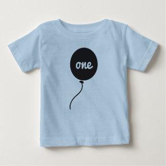 ベビーの最初誕生日のワイシャツ|の青 ベビーTシャツ