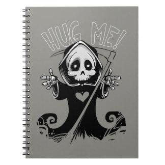 ベビーの死神は私を螺線形ノート抱き締めます ノートブック
