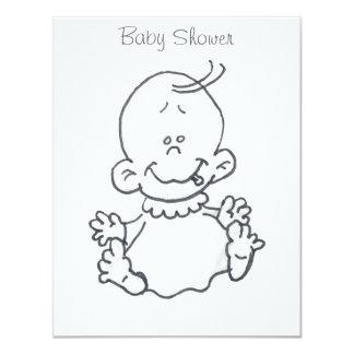 ベビーの漫画のベビーシャワー招待状 10.8 X 14 インビテーションカード