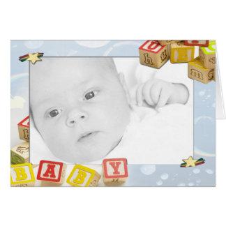 ベビーの発表 カード