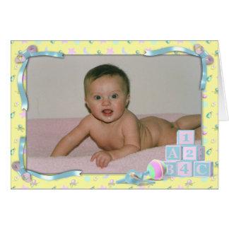 ベビーの発表 グリーティングカード