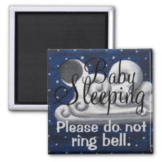 ベビーの睡眠曇った夜正面玄関の磁石 マグネット
