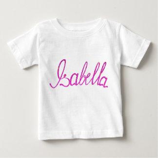 ベビーの素晴らしいジャージーのTシャツのイザベラの名前 ベビーTシャツ