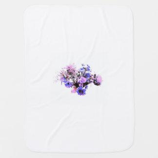 ベビーの紫色の小型花 ベビー ブランケット