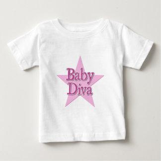 ベビーの花型女性歌手 ベビーTシャツ