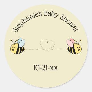 ベビーの蜂の双生児の男の子および女の子の好意 ラウンドシール