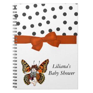 ベビーの蝶シャワーのノート ノートブック