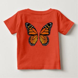 ベビーの蝶ワイシャツのかわいい蝶Customeのティー ベビーTシャツ