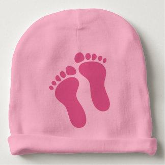 ベビーの足のピンクの幼児女の子の帽子の帽子 ベビービーニー