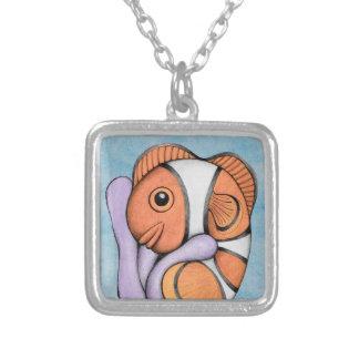 ベビーのClownfishのかわいいネックレス シルバープレートネックレス