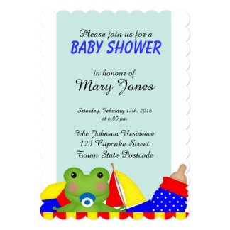ベビーのFroggyの「ベビーシャワー」の招待状 カード
