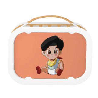 ベビーのGhennyのオレンジお弁当箱 ランチボックス