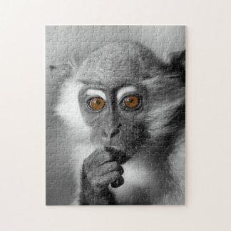 ベビーのMangabey猿 ジグソーパズル