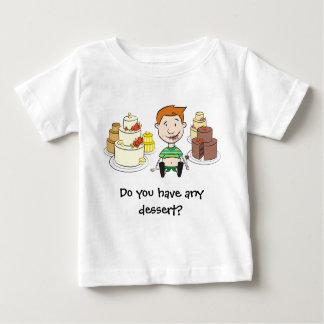 ベビーのTシャツ-デザートを食べますか。 ベビーTシャツ